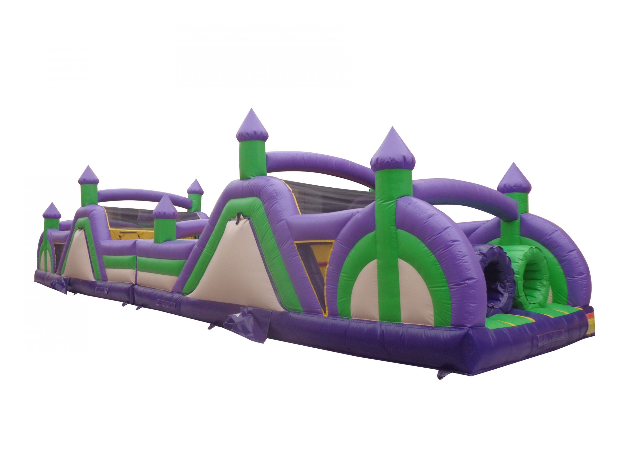 60' obstacle green purple