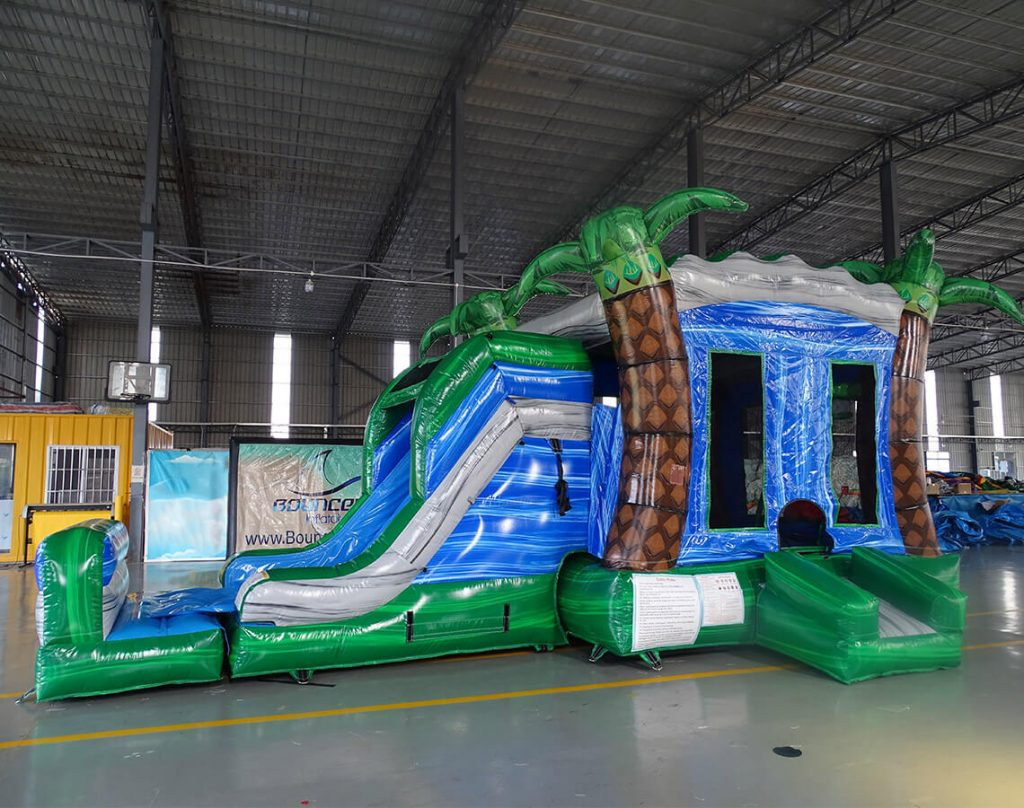 the coveted bounce house
