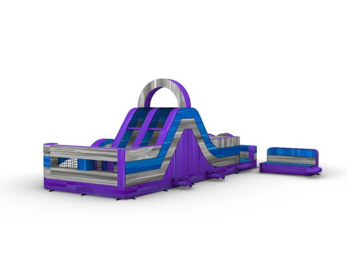 Purple Wrap-around inflatable obstacle course for sale